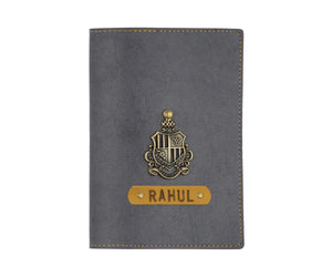 Personalized - Passport Cover With Charms - Grey - C.O.D Not Available-TRAVEL ESSENTIALS-PropShop24.com