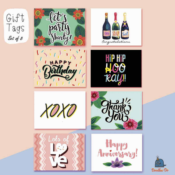 Gift Tags - Set Of 8-Stationery-PropShop24.com