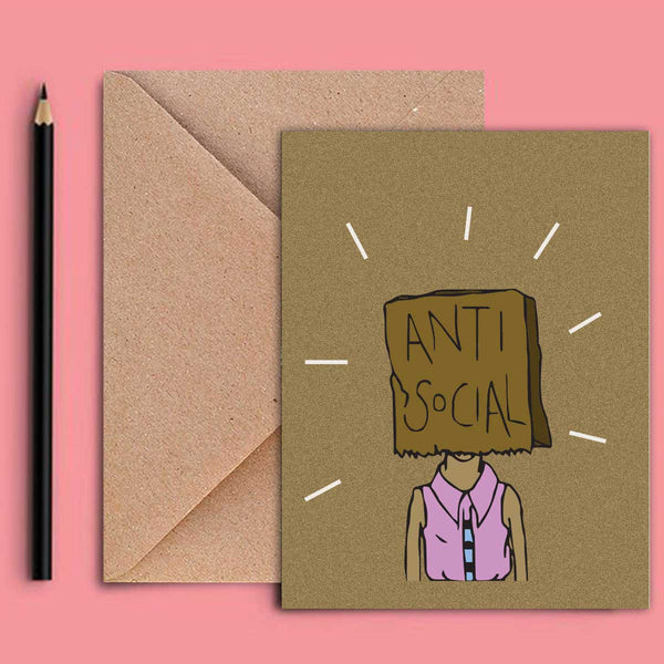 Greeting Card - Anti Social-STATIONERY-PropShop24.com
