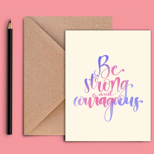Greeting Card - Be Strong-STATIONERY-PropShop24.com