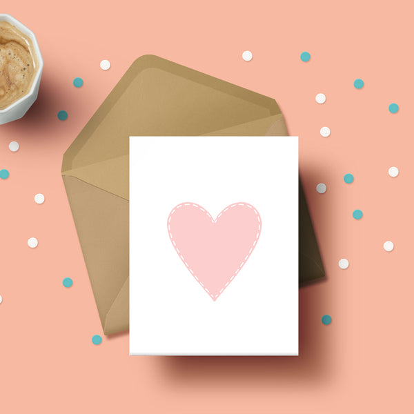 Greeting Card - Pink Heart-STATIONERY-PropShop24.com