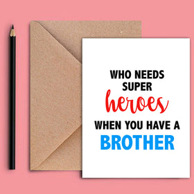 Greeting Card - Superhero Brother-STATIONERY-PropShop24.com