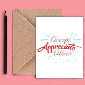 Greeting Card - Accept-STATIONERY-PropShop24.com