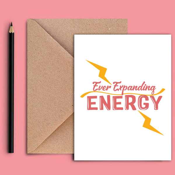 Greeting Card - Energy-STATIONERY-PropShop24.com