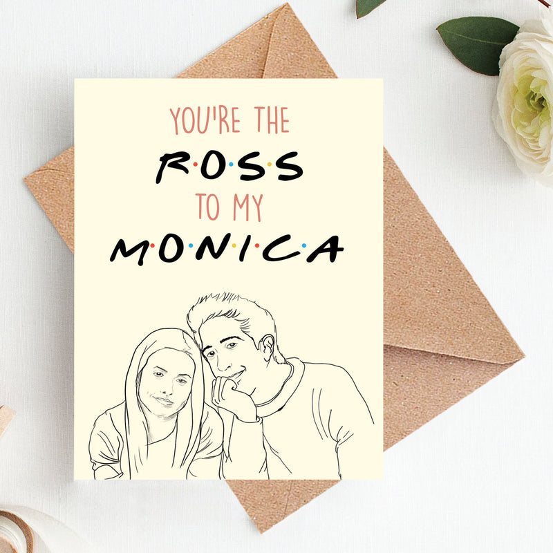 Greeting Card - Ross And Monica-GREETING CARDS-PropShop24.com