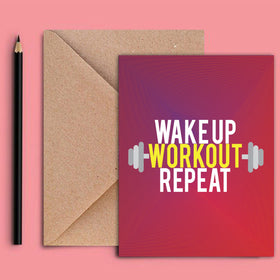 Greeting Card - Workout-STATIONERY-PropShop24.com