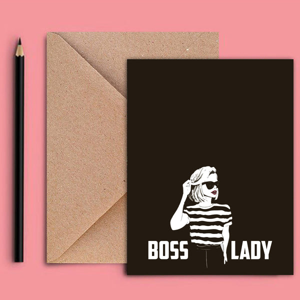 Greeting Card - Boss Lady Sketch-STATIONERY-PropShop24.com