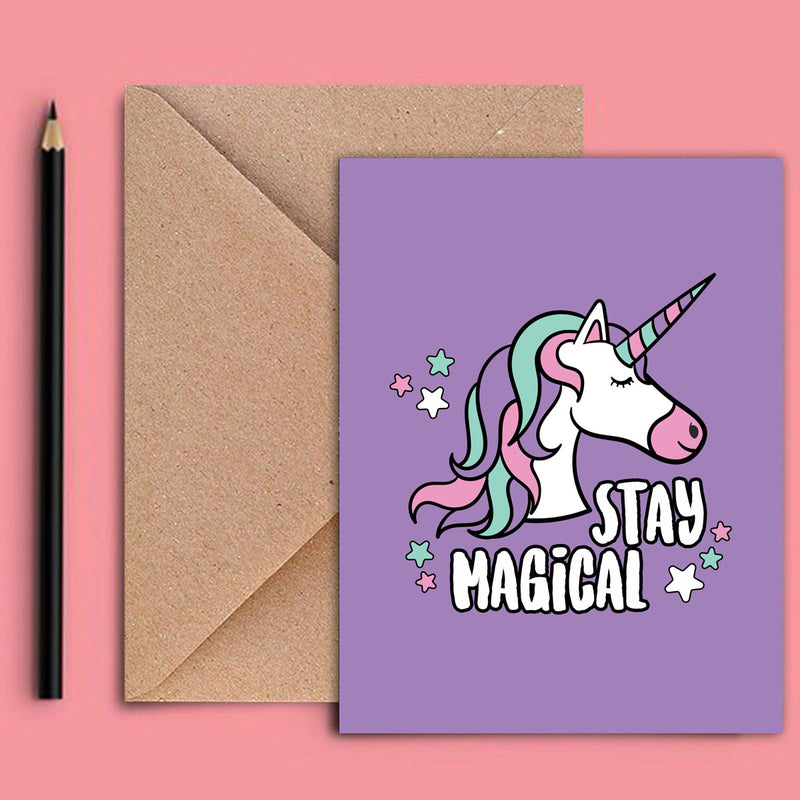 Greeting Card - Stay Magical Unicorn-GREETING CARDS-PropShop24.com