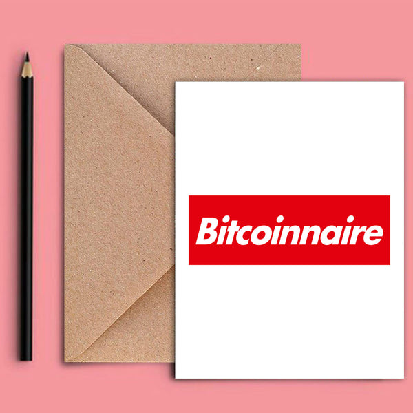 Greeting Card - Bitcoinnaire-STATIONERY-PropShop24.com