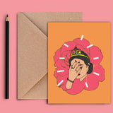Greeting Card - Brown Girl-STATIONERY-PropShop24.com