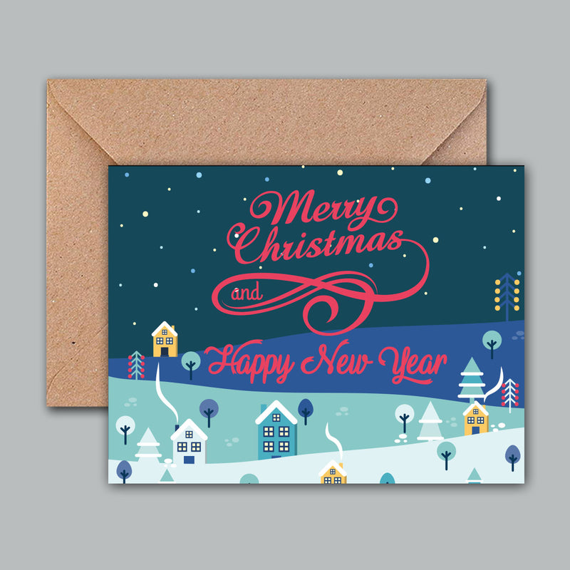 Greeting Card - Christmas & New Year-GREETING CARDS-PropShop24.com