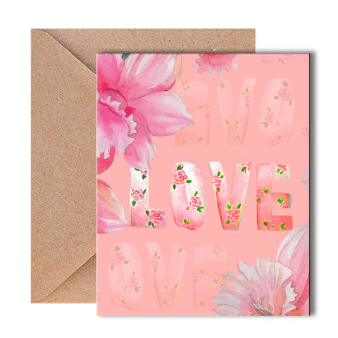 Greeting Card - Floral Love-PropShop24.com