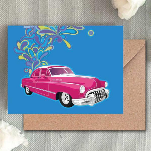 Greeting Cards - Purple Car-STATIONERY-PropShop24.com