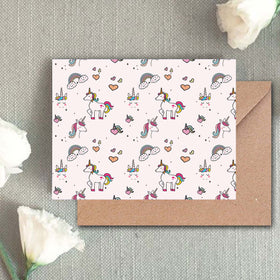Greeting Card - Unicorn Patterns-STATIONERY-PropShop24.com