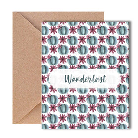 Greeting Card - Wanderlust Cactus Print-STATIONERY-PropShop24.com