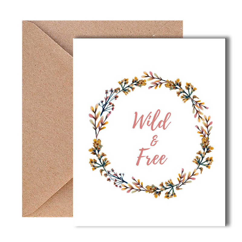 Greeting Card - Wild & Free - Wild Flowers-GREETING CARDS-PropShop24.com