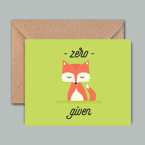 Greeting Card - Zero Fox Given-Stationery-PropShop24.com