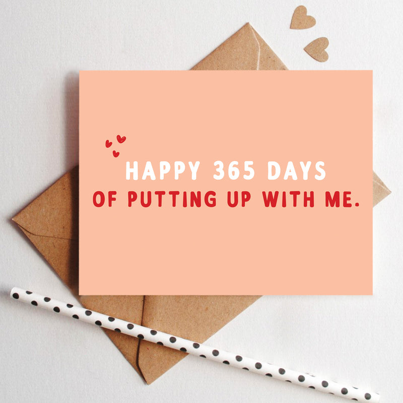 365 Days Of Putting Up With Me-GREETING CARDS-PropShop24.com