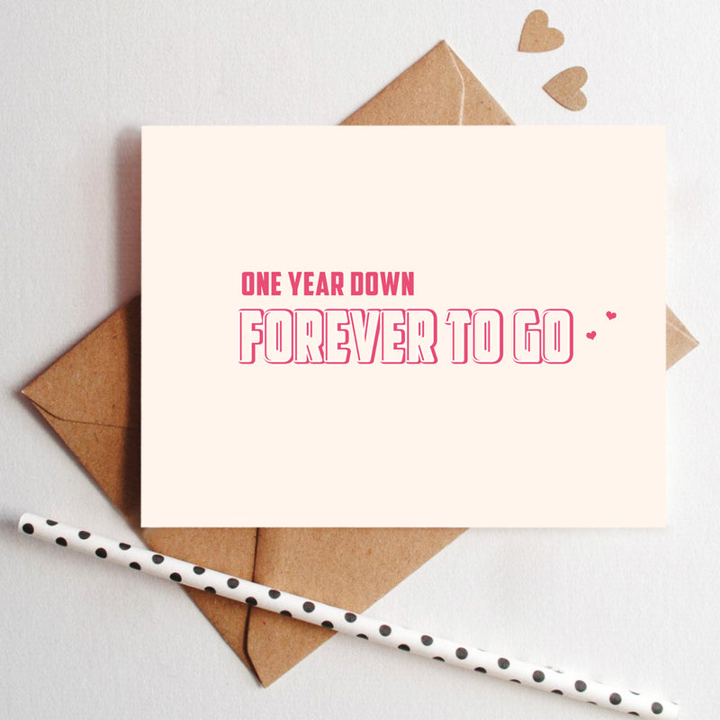 Greeting Card - Forever To Go-GREETING CARDS-PropShop24.com