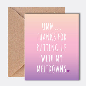 Greeting Card - Thanks For-STATIONERY-PropShop24.com