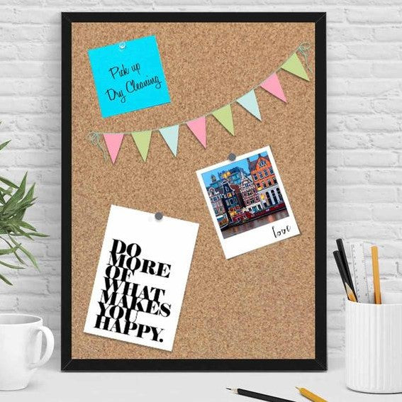 Framed Cork Pin Board - Black-Home-PropShop24.com
