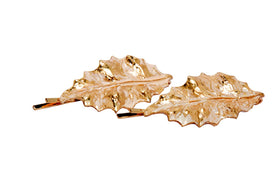 Rose Leaf Gold Hair Pins - Set of 2-JEWELLERY-PropShop24.com