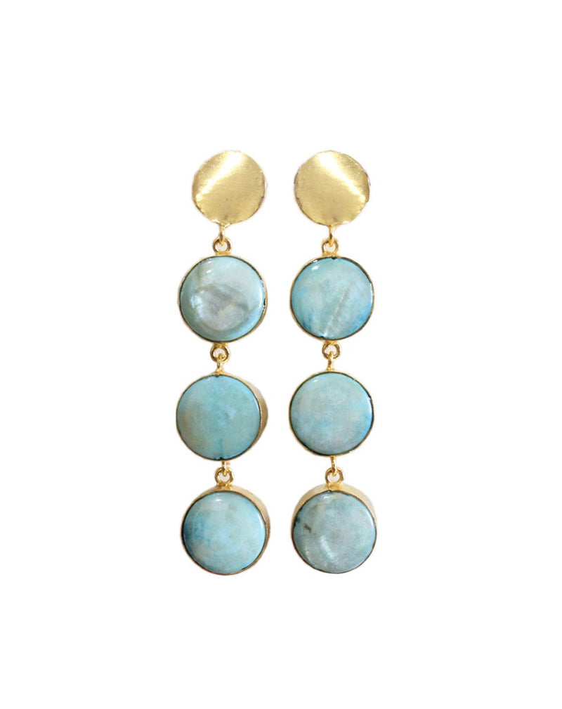 Turquoise Shell Earrings-EARRINGS-PropShop24.com