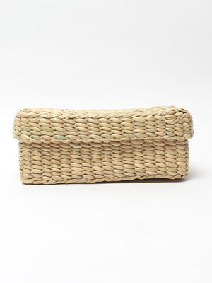 Storage Basket With Lid - Dry Grass-ORGANIZERS + STORAGE-PropShop24.com