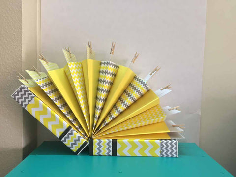 Accordion Albums - Yellow-Stationery-PropShop24.com