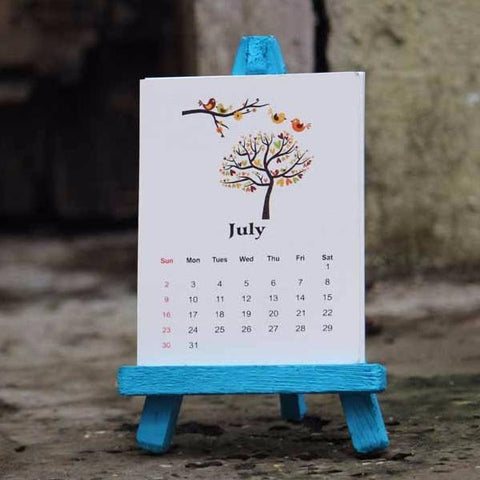 Calendar - Turquoise stand-STATIONERY-PropShop24.com