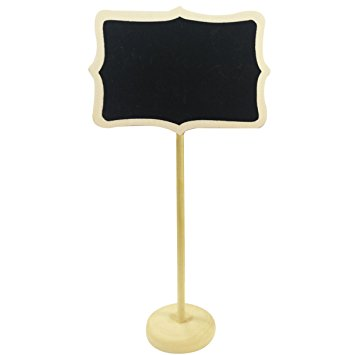 Wooden Chalkboard Table Stands With Base (Set Of 10)-DESK ACCESSORIES-PropShop24.com