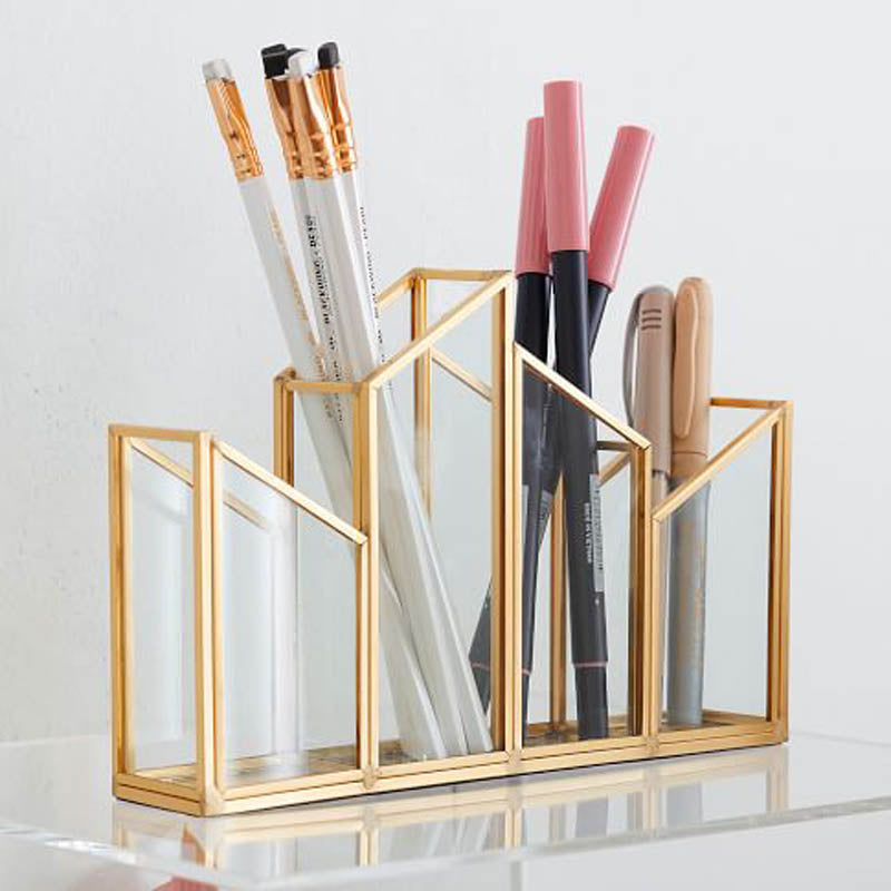 Skyline Glass Pen Stand-DESK ACCESSORIES-PropShop24.com