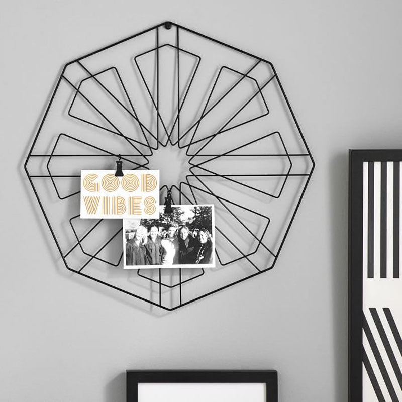 Photo Holder Wall Grid - Octagonal-HOME ACCESSORIES-PropShop24.com