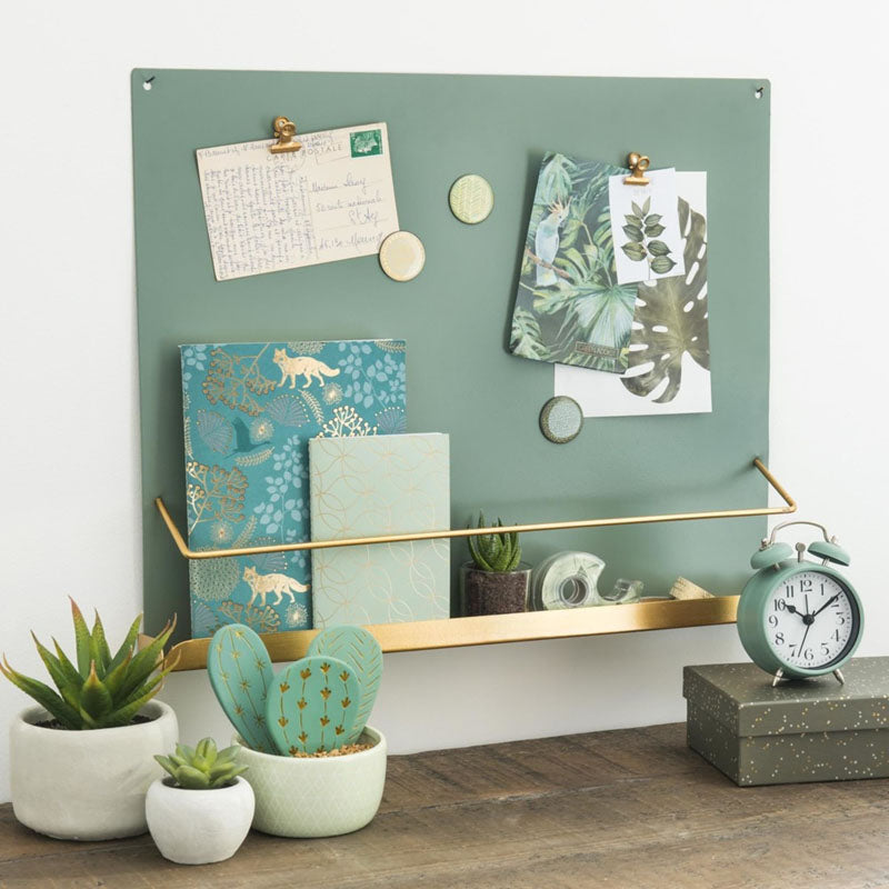 Magnetic Board Plus Shelf - Royal Green-DESK ACCESSORIES-PropShop24.com