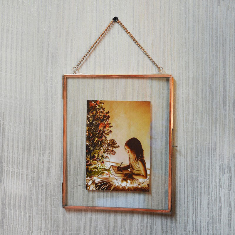 Hanging Photo Frame - Copper-HOME ACCESSORIES-PropShop24.com