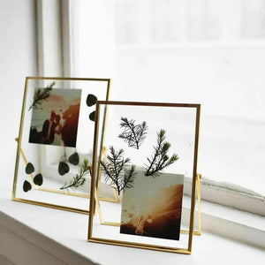Golden Glass Photo Frame-HOME ACCESSORIES-PropShop24.com