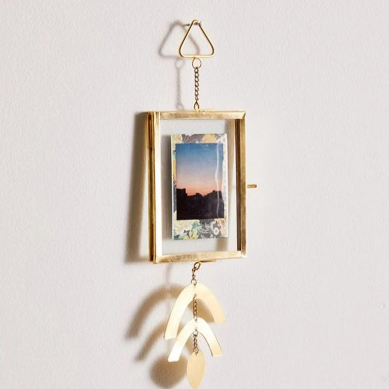 Golden Hanging Photo Frame-HOME ACCESSORIES-PropShop24.com