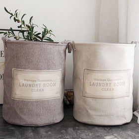 Vintage Laundry Bag - Light Grey-HOME-PropShop24.com