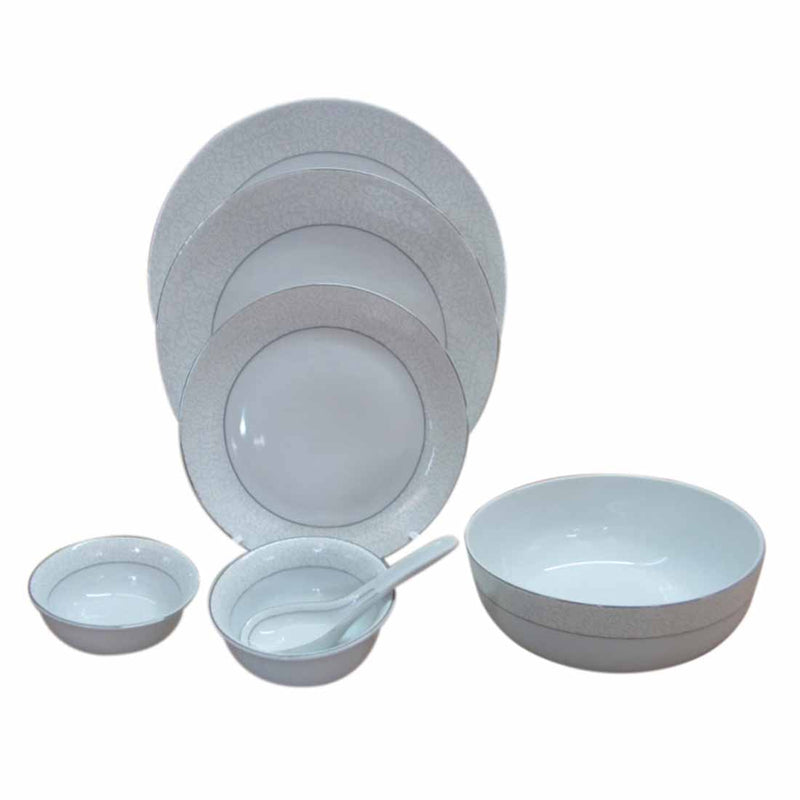 Dinner Set - Plain White - Set Of 33-DINING + KITCHEN-PropShop24.com