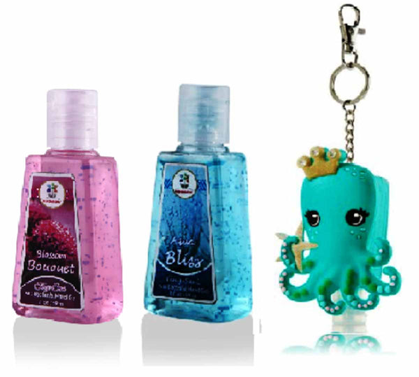 Hand Santizer - Octopus Led Holder With Aqua Bliss, Blossom Bouquet (Set Of 2) - 30Ml-BEAUTY-PropShop24.com
