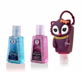 HAND SANITIZER - Squirrel Holder With Aqua Bliss, Blossom Bouquet - Set of 2 - 30ml-BEAUTY-PropShop24.com