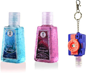 HAND SANITIZER - Camera LED Holder with Aqua Bliss, Blossom Bouquet - Set of 2 - 30ml-BEAUTY-PropShop24.com