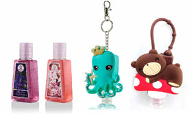 HAND SANITIZER - Octopus and Teddy holder with Fresh Blooms, Spring Fizz - Set of 4-BEAUTY-PropShop24.com