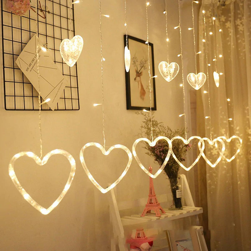 Heart String Lights-HOME ACCESSORIES-PropShop24.com