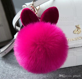 Hot Pink Bunny Keychain-FASHION-PropShop24.com