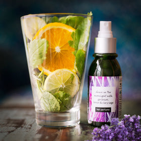 Hair Perfume- With Geranium, Lemon and Clary Sage | Makes your hair smell divine | 50 ml-Beauty-PropShop24.com