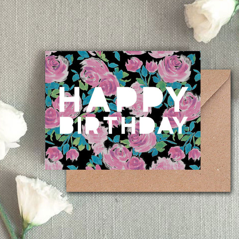 Greeting Card - Happy Birthday(floral)-Gifting-PropShop24.com