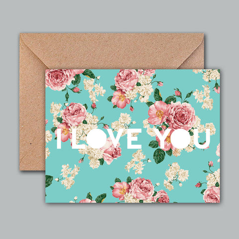 Greeting card - I love you(floral)-Gifting-PropShop24.com
