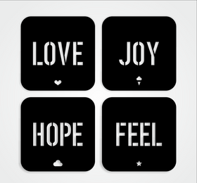Ljhf Coasters - Set Of 4-Home-PropShop24.com
