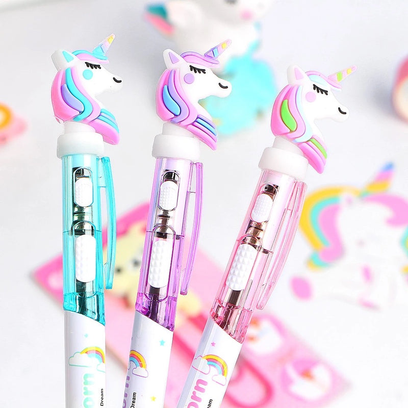 Unicorn LED Light Ball Pen - Blue Ink-PENS + PENCILS + PAPER CLIPS-PropShop24.com